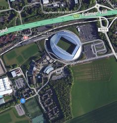 Aerial Bing Map of the Amex stadium at Falmer, home of Brighton & Hove Albion FC #bhafc