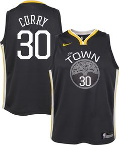 6fc122d9201 Nike Youth Golden State Warriors Stephen Curry #30 Grey Dri-FIT Swingman  Jersey