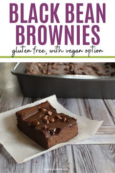 Naturally gluten free, yet so chocolatey and fudgy. These brownies have a secret ingredient that makes them so good! #brownies #vegetarian #vegan #easybrownies #glutenfreebrownies #flourlessblackbeanbrownies Easy To Make Desserts, Fun Desserts, Best Dessert Recipes, Real Food Recipes, Bean Brownies, Brownie Ingredients, Gluten Free Brownies, Cooking For Beginners, Homemade Brownies
