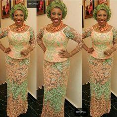 Peach lace ~African fashion, Ankara, kitenge, African women dresses, African prints, Braids, Nigerian wedding, Ghanaian fashion, African wedding ~DKK