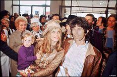 Keith Richards, Anita Pallenberg, and son Marlon