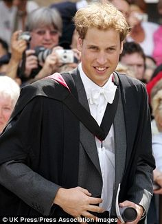 Prince William's Graduation Ceremony at the University of St Andrews in Scotland on June 23, 2005.