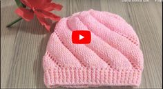 Twisted Knit Cap Making Knitted Beret, Crochet Beanie, Crochet Hats, Baby Hat Patterns, Baby Knitting Patterns, Crochet Basket Pattern, Crochet Motif, Baby Hats Knitting, Free Knitting