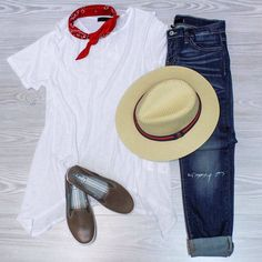 RedWhiteBlueEveryday  Shop these items online under shopable posts. www.shopelysian.com! Hampton Straw Panama Hat $32. in-store only.  Basic Bandana Neck Scarf $10. online  in-store. Ribbed Swing Top $34. online  in-store.  Everyday Boyfriend Denim $82. in-store only.  Crashback Leather Keds in Brown $66. online  in-store. #WearElysianDaily . . . . . . #lookoftheday #fashionpost #fashionista #fashion #style #ootd #currentlywearing  #fashionstyle #fashiondiaries #thatsdarling #ootd #instagood…