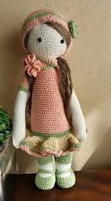 / based on lalylala crochet patterns Crochet Fairy, Cute Crochet, Beautiful Crochet, Crochet Crafts, Yarn Crafts, Crochet Projects, Crochet Amigurumi, Amigurumi Patterns, Amigurumi Doll