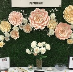 Greenery with our paper flowers are a big hit right now, especially with spring right around the corner. Big Paper Flowers, Crepe Paper Flowers Tutorial, Paper Flowers Wedding, Paper Flower Wall, Giant Flowers, Wedding Paper, Paper Art Design, Flower Wall Backdrop, Backdrop Decorations