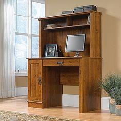 "43"" Computer Desk with Hutch in Abbey Oak Finish"