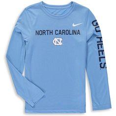 North Carolina Tar Heels Jordan Brand Youth Legend Long Sleeve Performance T-Shirt – Carolina Blue