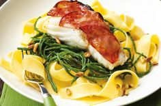 Fettucine and chorzio-topped cod recipe - goodtoknow