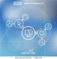 Social Networking Creative Icon Background Concept - stock vector