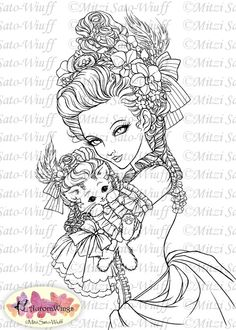 Digital Stamp Marie Nyantoinette Marie Antoinette by AuroraWings
