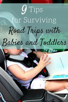 Easy tips and tricks for surviving road trips with a baby or toddler.