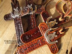 GOT TO GET!  Custommade His & Hers saddle crosses with double by dirtynameranch, $30.00