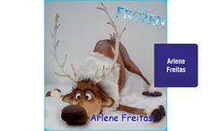 Curso de biscuit - Sven (Alce - Frozen)   Cursos Irmãos Haluli