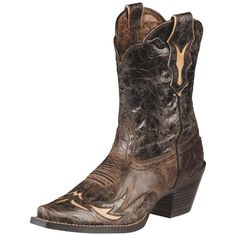These boots are made for dancing in. Tuck your jeans into the full-grain leather 9 upper to generate a little boot envy and a lot of action. Ariat boots.