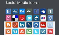 25 Beautiful Sets of New Social Media Icons