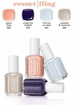 Summer colors; Essie