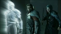 Eltariel has tracked the Nazgul to some haunted ruins. Talion learns of what they're up to and puts a stop to it. The Middle, Middle Earth, Fantasy World, Lord Of The Rings, Lotr, Ranger, Darth Vader, Fictional Characters, The Lord Of The Rings