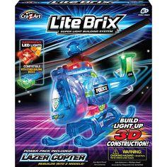 """Cra-Z-Art Lite Brix Building System - Laser Copter -  CRA-Z-ART - Toys""""R""""Us"""