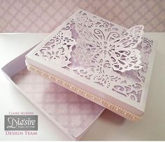Basic Box, Crafter's Companion Ultimate Ulti-Boxes DVD Project - Create a Card Butterfly Card Making Inspiration, Making Ideas, Crafters Companion Cards, Decoupage, Paper Crafts Origami, Step Cards, Pretty Box, Craft Box, Heartfelt Creations