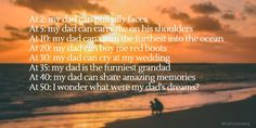 This Father's Day, choose to spend time with your dad rather than giving him an expensive gift. Shared experiences are much more effective in improving or maintaining positive relationships t… Short Poems, Men's Day, Silly Faces, Red Boots, Haiku, My Father, My Dad, Crying, Writer