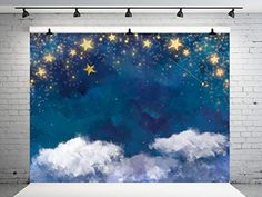 Kate 7x5ft Children Photography Backdrop White Cloud Sky Golden Glitter Stars Birthday Party Background Newborn Baby ... Birthday Party Background, Birthday Backdrop, Golden Glitter, Glitter Stars, Children Photography, Black Friday, Backdrops, Birthday Parties, Clouds