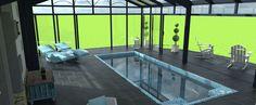 Visualisez votre projet de #véranda #piscine grâce à notre modélisation #3D