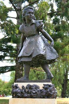 Rymill Park, Adelaide, South Australia. Alice (in wonderland) statue.