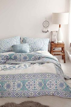 Magical Thinking Devi Medallion Comforter - Blue // Urban Outfitters