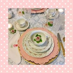 #Cottage Green on the Lake ... #lake #Cottage #tablescape #Valentine's Day