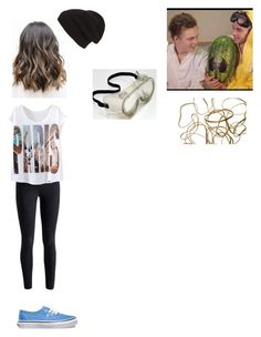 """Trying to Pop A Watermelon with Jaspar"" by calm-hich-psych ❤ liked on Polyvore featuring Phase 3 and Vans"