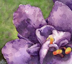 paintings in violet images | Garden Flower Art Gallery: Contemporary Floral-Inspired Paintings by ...