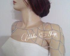gold shoulder chain rose gold shoulder necklace body by MukoShop