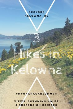 Top 3 Hikes in Kelowna, BC, Canada for all fitness levels - views, swimming holes & suspension bridges (Top View Alberta Canada) Vancouver, Alberta Canada, Things To Do In Kelowna, Montreal, Columbia Outdoor, Toronto, Canadian Travel, Canadian Rockies, Swimming Holes