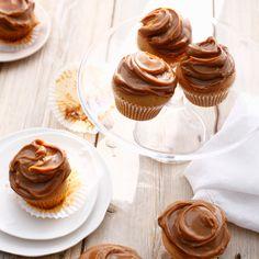Découvrez la recette Cupcake à la confiture de lait sur cuisineactuelle.fr.
