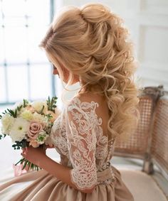 Cute Vintage Curly Wedding Hairstyles
