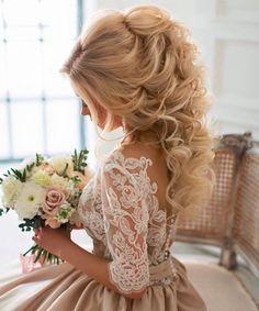 Cute Vintage Curly Wedding Hairstyles