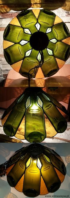 stained glass, lamp made from real bootles of vine, diameter 420mm, it's possible to make model as a floor lamp