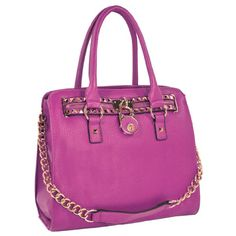 HALEY Purple Classic Gold Studded Structured Satchel Purse Style Tote Handbag:Amazon:Clothing
