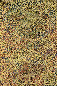 "Awelye (Emu Tracks)  Emily Kngwarreye, 1991  Acrylic on Canvas, 36"" x 24"", Next Picasso Affordable Art"