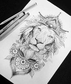 Sigam no instagra mandala lion tattoo, lion thigh tattoo, Leo Tattoos, Future Tattoos, Body Art Tattoos, Sleeve Tattoos, Tatoos, Thigh Sleeve Tattoo, Back Of Thigh Tattoo, Crazy Tattoos, Hip Tattoos Women