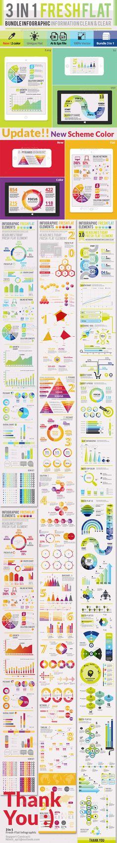 3 in 1 Fresh-Flat Infographic EPS, AI Template #design Download: http://graphicriver.net/item/3-in-1-freshflat/9016582?ref=ksioks