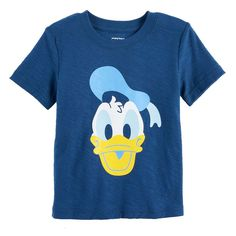 Disney's Donald Duck Baby Boy Slubbed Graphic Tee by Jumping Beans®, Size: 6 Months, Dark Blue