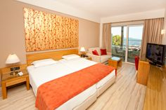 Enjoy spectacular views of the Messinian Gulf or the city of Kalamata from one of our 76 fully renovated and tastefully decorated spacious rooms.  #accommodation #Kalamata
