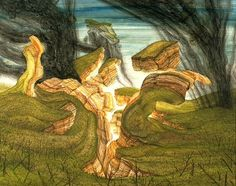 Anton Lehmden Aufgebrochene Verwerfung Öl auf Holz 1991 39,5 x 49,5 cm Anton, Fine Art, World, Austria, Painting, School, Painting Art, Paintings, Painted Canvas