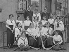Camogie team, Bank Lane, photographed in October 1915 #irish #history