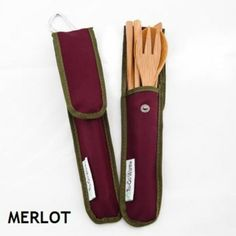 Enjoy To-Go Ware Bamboo Utensil Set - Merlot - 4 Piece every day at these amazing prices! The RePEaT Bamboo Utensil Set is perfect for people and pandas alike! Utensil Set, Cutlery Set, Flatware, Recycle Plastic Bottles, Plastic Ware, Consumer Products, Reusable Bags, Safe Food, Bamboo
