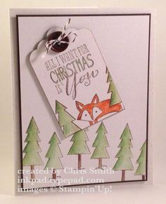 Christmas Fox by inkpad - Cards and Paper Crafts at Splitcoaststampers