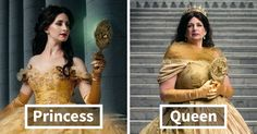 Disney Princesses Reimagined Years Later As Queens By Daughters And Mothers | Bored Panda