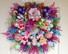 Christmas Wreath, Disney Mickey Minnie, Mickey Mouse Christmas Wreath, Tokyo Disney Christmas Plush Wreath, Gingerbread Christmas Wreath